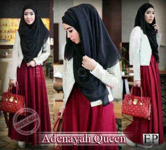 Baju Maxi Adenayah Queen dan Pashmina