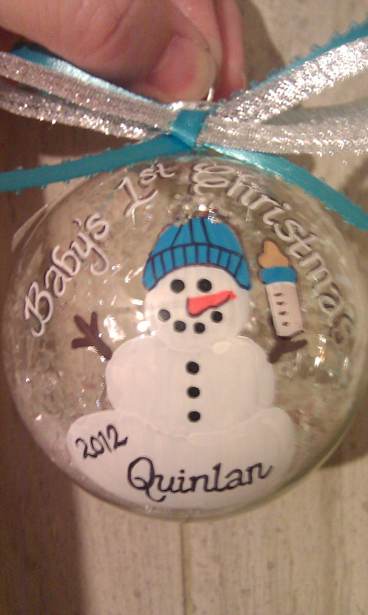 New baby ornaments - This Is The Perfect Gift For Someone You Know Who Just Had A New Baby Or Grandbaby This Is A Handpainted On A 3 Inch Round Clear Glass Ornament