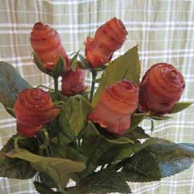 Bacon Roses - perfect Valentine's Day gift for him, haha