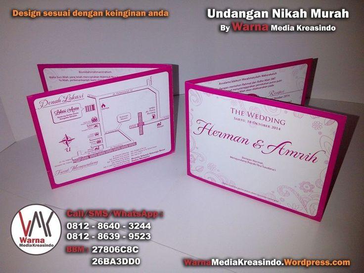 Undangan minimalis dengan nuansa pink - whatsapp: 081286403244 website: warnamediakreasindo.wordpress.com #undangan #pernikahan #wedding #invitation #minimalis #murah #simple #pink