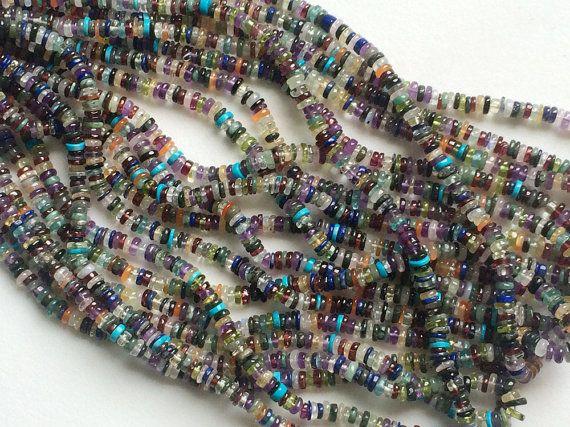 Multi Gemstone Wheel / Tyre Beads Multi Gemstone by gemsforjewels