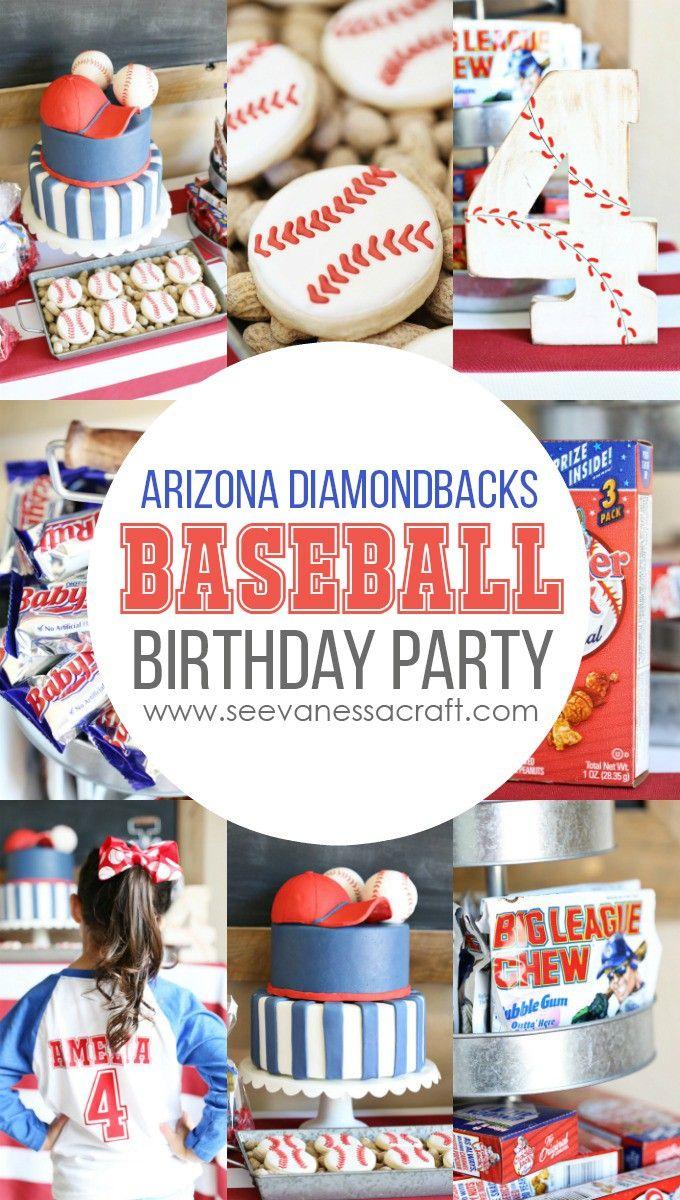 Baseball Birthday Party at Chase Field with Arizona Diamondbacks - tons of cute baseball birthday party theme ideas!