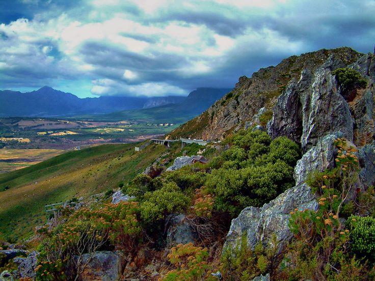 Sir Lowry's Pass near Gordan's Bay, South Africa.