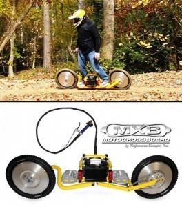 MXB Shocker, a two-wheeled motorized skateboard