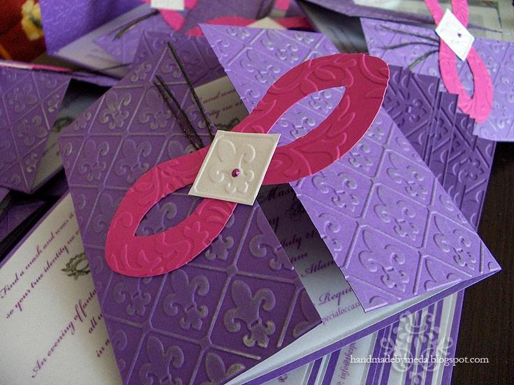 masquerade invitations | Pink Purple Silver Masquerade ...