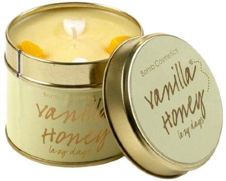 Bomb Cosmetics Scented Candle Tin, Vanilla Honey: Amazon.co.uk: Kitchen & Home