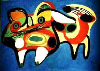 "Karel Appel founded the ""Cobra"" avant-garde movement in 1948"