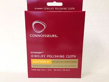 """Gold  Polishing Jewelry Cloth Connoisseurs 8"""" x 10"""" Cleaner Ultra Soft Brass"""