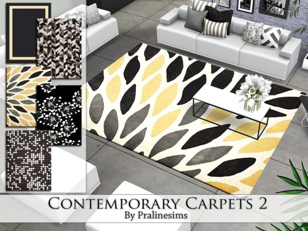Pralinesims Contemporary Carpets 2 Living Room Sims 4 Cc Furniture Rooms