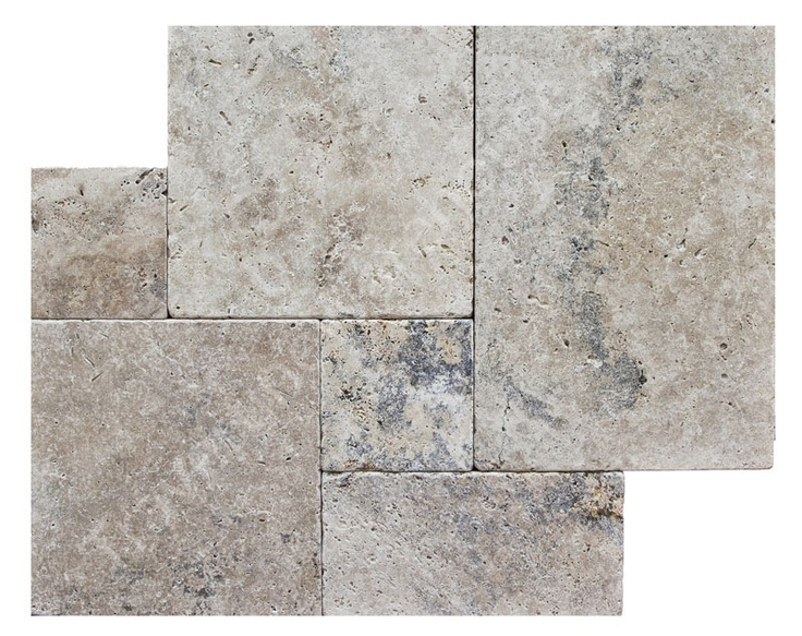 French pattern tiles, tumbled edge tile – travertine