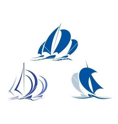 Yachts and sailboats vector 1347880 - by Seamartini on VectorStock®