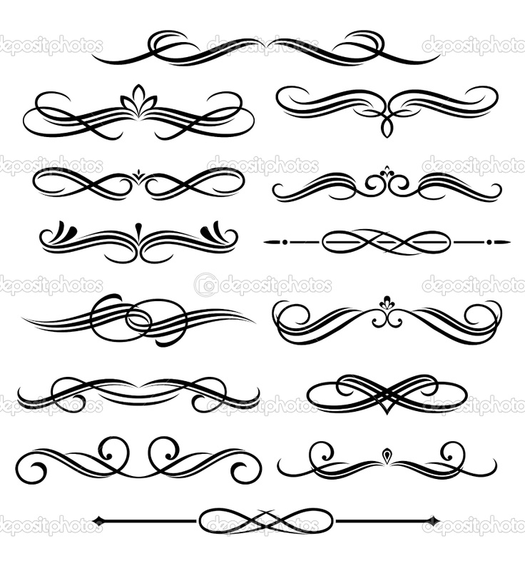 Drawing Lines Shapes Or Text On Bitmaps : Best flourishments swirls typography images on