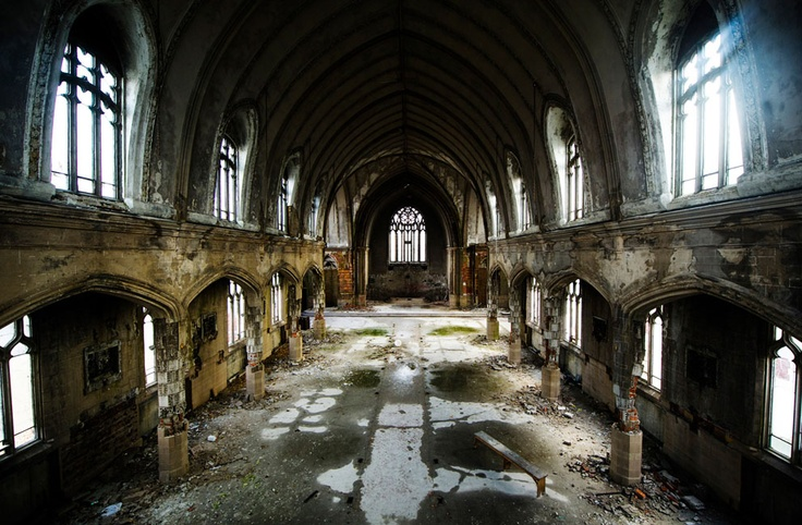 The interior of the abandoned Martyrs of Uganda Catholic Church, in Detroit, Michigan, on December 18, 2011. (Reuters/Mark Blinch): Abandoned Martyr, Abandoned Place, Detroit Church, Uganda Catholic, Catholic Church, Abandoned Mansions, Detroit Michigan, Planets Earth, Abandoned Church