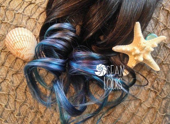 Underlights, Dip Dye Hair, Blue Hair, Pastel Hair Extensions, Ombre Hair, Teal Hair, Silver Hair, Gr
