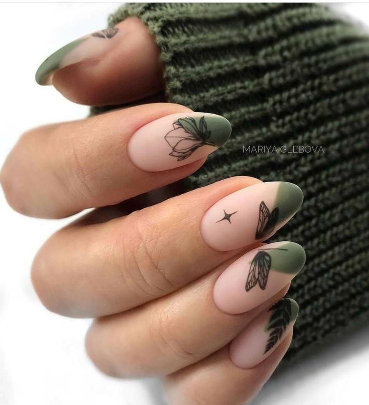 80+ mooie natuurlijke acryl ovale nagels ontwerpideeën