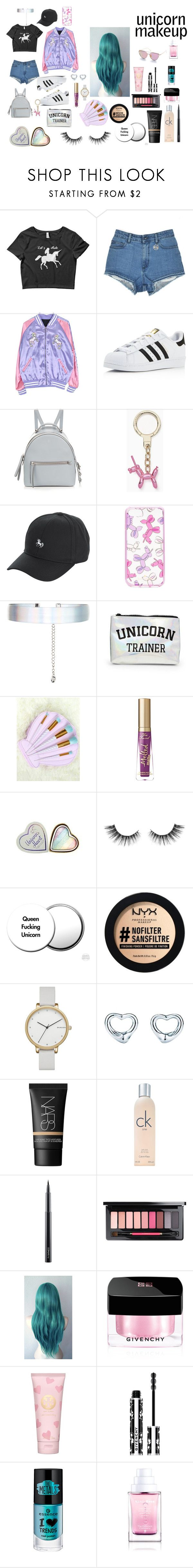 """Untitled #210"" by khyara on Polyvore featuring adidas, Fendi, Kate Spade, Accessorize, Forever 21, Too Faced Cosmetics, Unicorn Lashes, NYX, Skagen and Tiffany & Co."