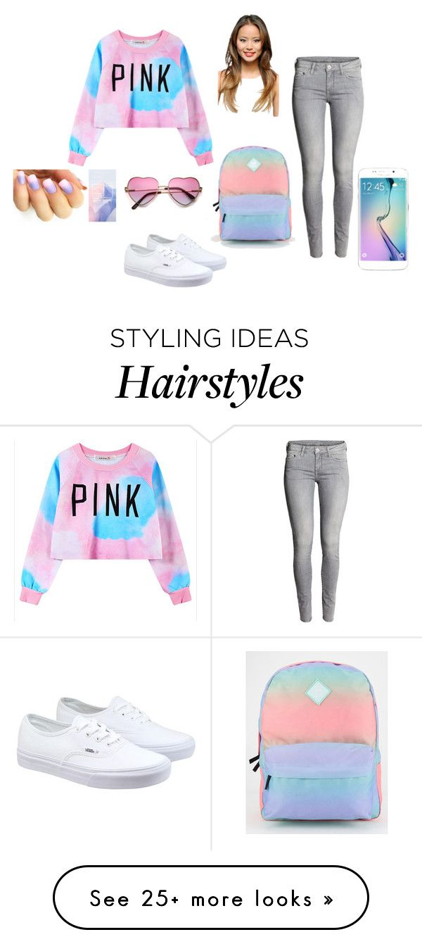 """Light Pinks and Blues"" by zeniboo on Polyvore featuring Chicnova Fashion, Vans, Samsung, women's clothing, women's fashion, women, female, woman, misses and juniors"