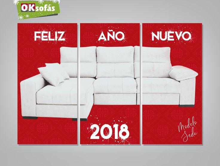 ¡Desde OKSofás os deseamos un  #FelizAñoNuevo2018!  #Sofás #decor #Decoración #OKSofás #Felicesfiestas #nuevoaño #FelizAñoNuevo2018 #FelizAñoNuevo