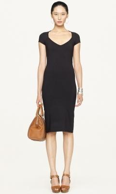 Ralph Lauren  -Black Label-  Cutout Jersey Dress - the neckline and length a little shorter
