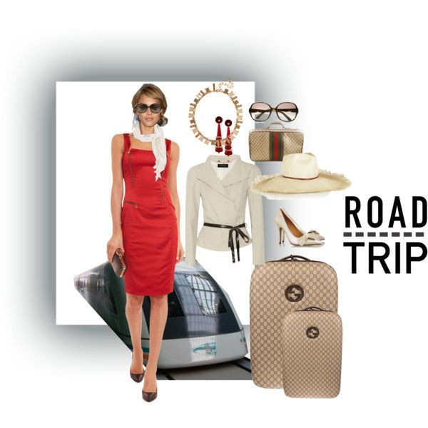 Road Trippin' in Style by wasupfirefairy on Polyvore featuring Isabel Marant, Gucci, Oscar de la Renta, Warehouse and Valentino