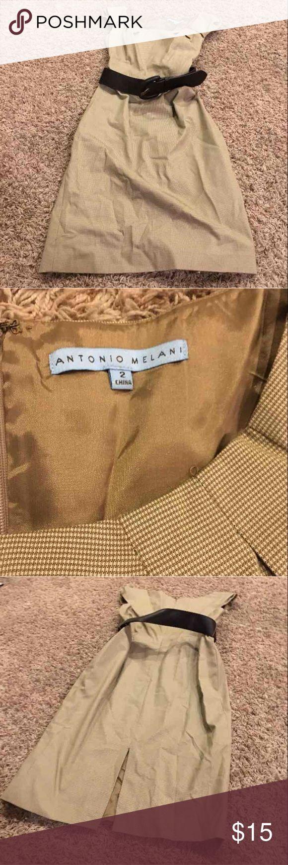 Antonio Melani size 2 dress tan Antonio Melani size 2 dress tan ANTONIO MELANI Dresses Midi