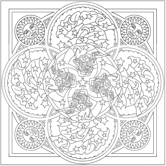96 best Creative Corner - Mandala Magic coloring and clip art images - copy extreme mandala coloring pages