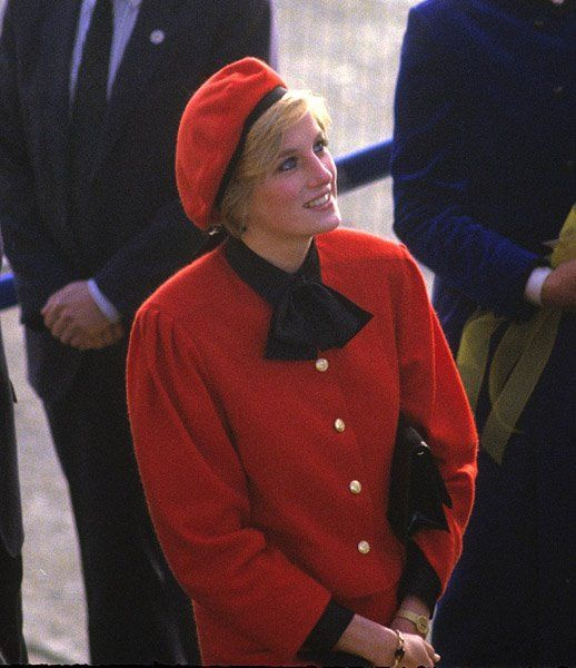 "November 15, 1984: Princess Diana christens the luxury liner ""Royal Princess"" in Southampton."