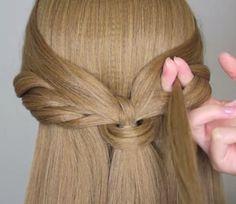 Peinados con media cola fácil y bonito DIY