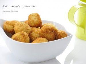Bolitas de patata y pescado