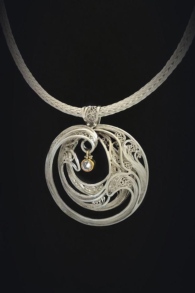 Ensparkled, Russian filigree necklace