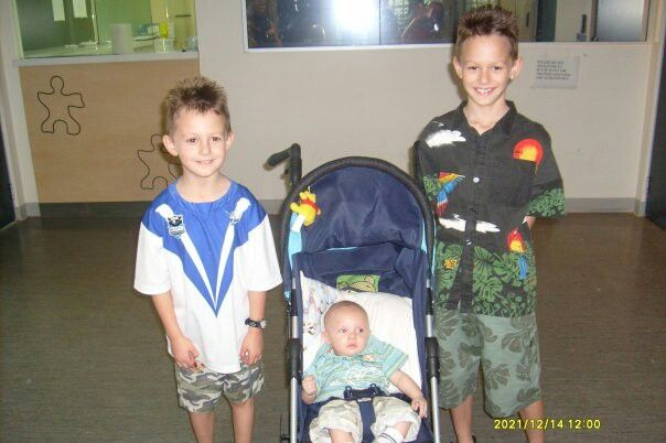 These r my youngest boys luke n alex with my grandson troy,they r 14 16 7 years old now♥