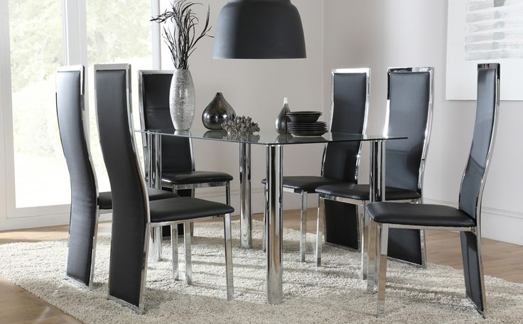Solar Round Chrome And Glass Dining Table With 4 Renzo: 48 Best Images About Dining Sets On Pinterest
