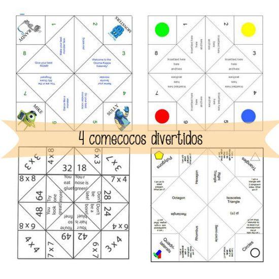 4 comecocos divertidos Tablas de multiplicar