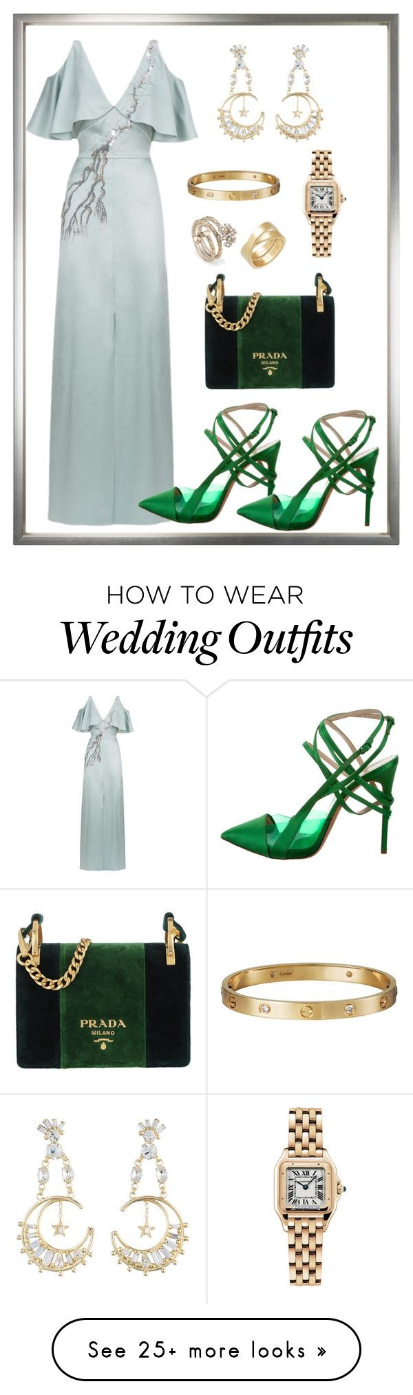 """Weddings"" by patrav on Polyvore featuring Temperley London, Casadei, Prada, Cartier, Gucci, contestentry and polyvoreeditorial"