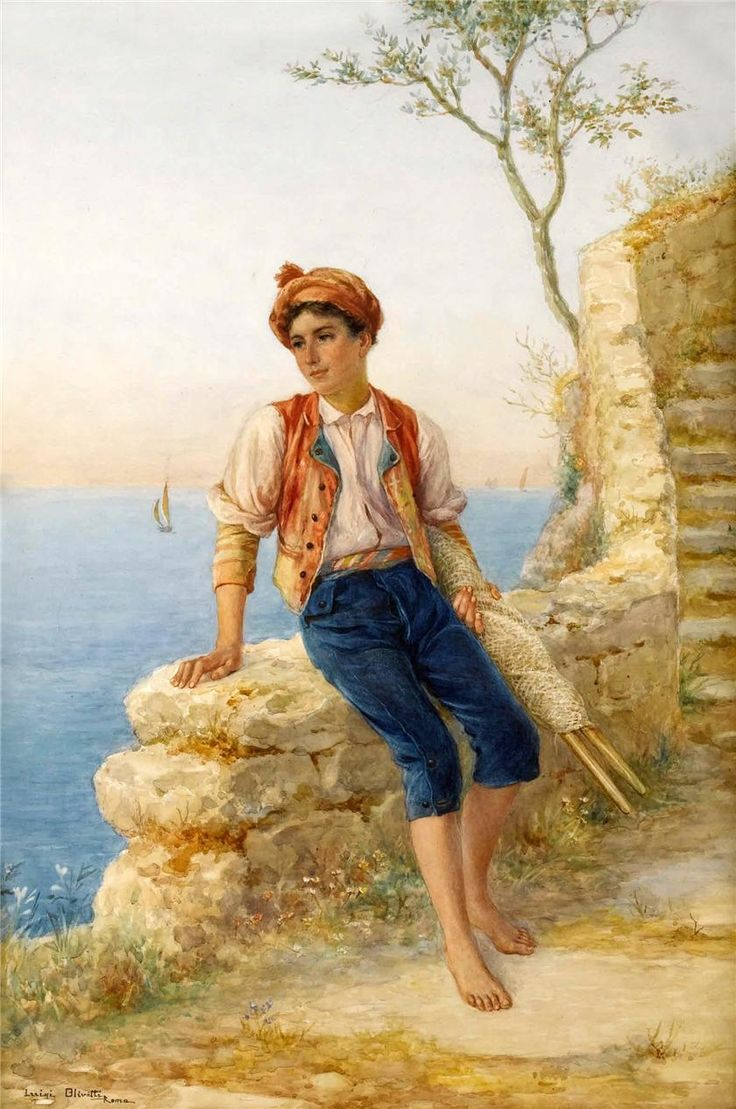 Итальянский художник Luigi Olivetti (1856-1941).