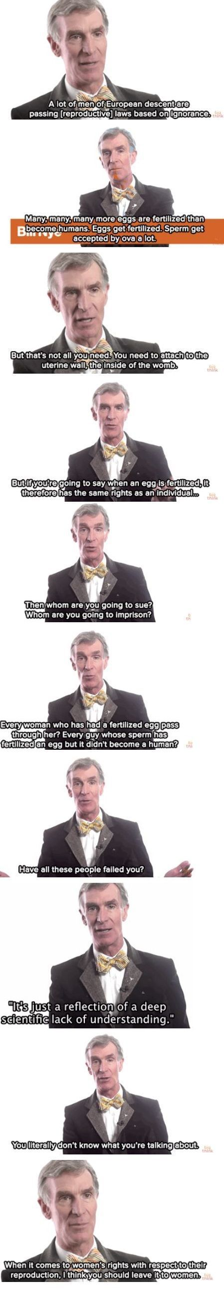 Inspirational Quote: Right on Bill Nye!