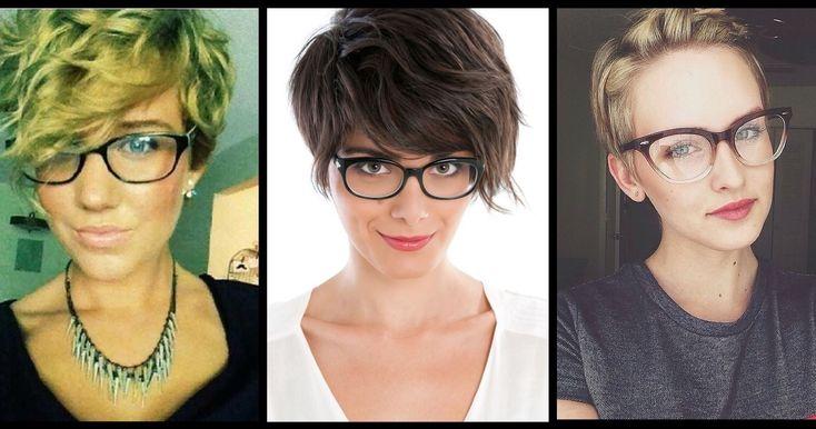 Coiffures magnifiques avec des lunettes - Coupe Courte Femme