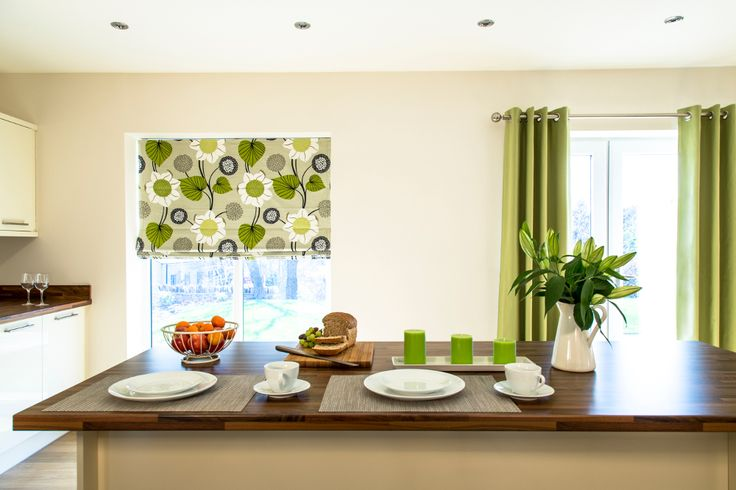 Delilah Kiwi - available at Roman Blinds Direct  #rollerblind #curtains #kitchen #interiordesign