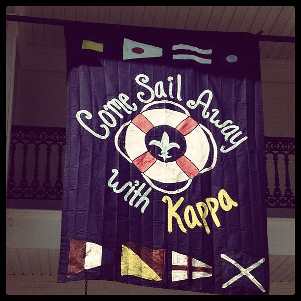 Banners | Kappa Kappa Gamma | KKG recruitment, come sail away with Kappa #greek #sorority #recruitment