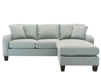 Cindy Crawford Bailey Microfiber Chaise Sofa Home And Textiles