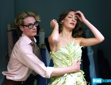 Project runway-the cornhusk dress, how could anybody forget that!?
