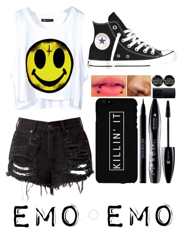 """""""Emo (I think -_________-)"""" by lynn555 ❤ liked on Polyvore"""