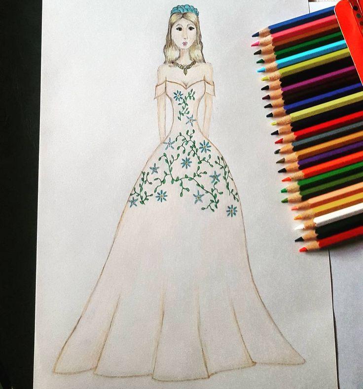 "19 aprecieri, 1 comentarii - C.A. (@c.a.ilustratii) pe Instagram: ""#fashion #fashionista #f4f #fashionart #princes #fashionillustration #designer #girl #hair #color…"""