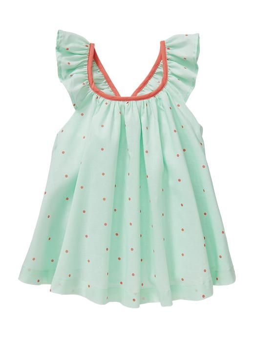 Baby Gap Dot Flutter Top - this top with the adorable ruffle bloomers is one of our favorite looks... wish my #baby didn't grow out of things so quickly!