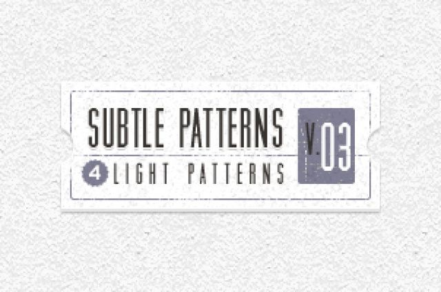 Volume 3 of our subtle light texture patterns background with 4 light tile patterns ideal to create a subtle and original...