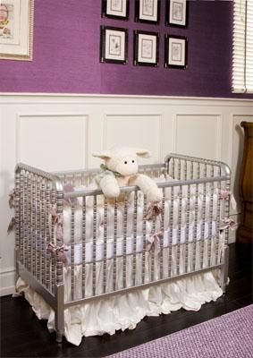 Picture of Jenny Lind Crib in Metallic Silver $930