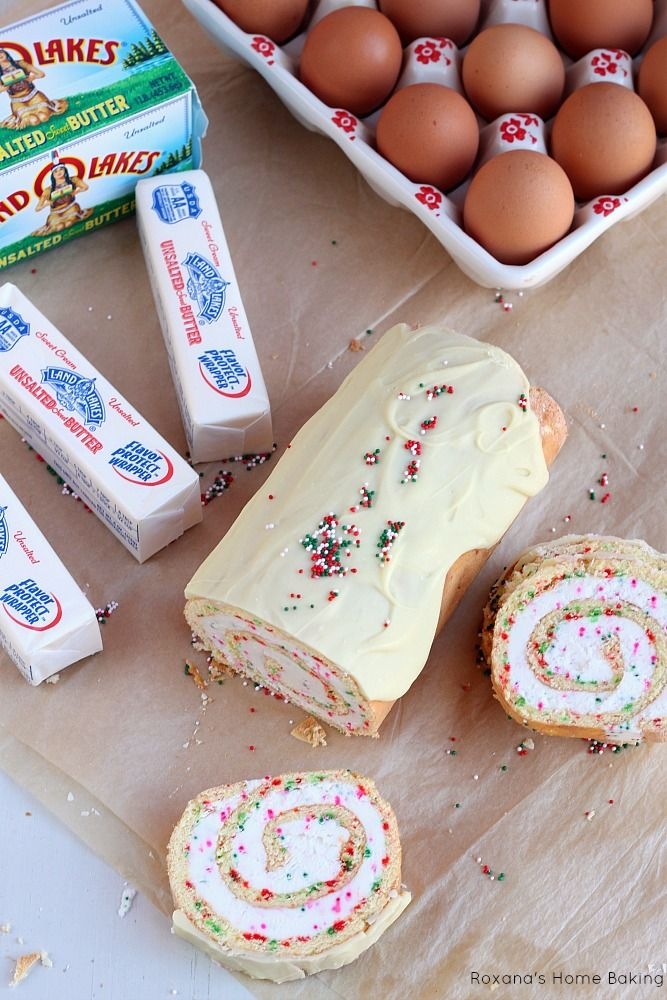 Christmas vanilla roll cake recipe - I know, not so diet-like but it's for Christmas, ONCE A YEAR!!!!  lol