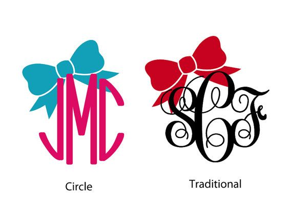 Monogram car decal 5 bow mine is coming i just need a car to