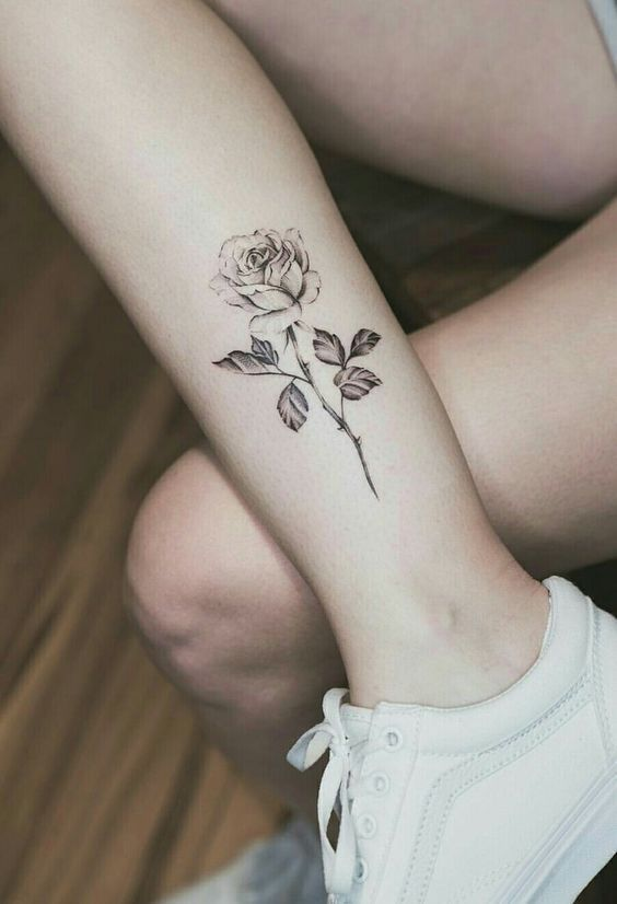 Rose Tattoo On Hand Simple