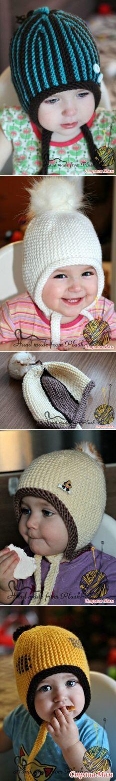 Стопка шапок №4 - Вязание - Страна Мам
